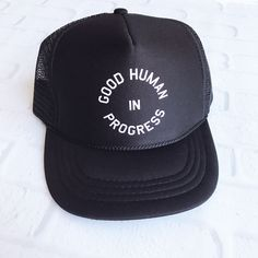 """Good Human In Progress"" Youth Trucker Hat"