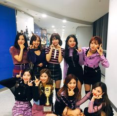 """SHOW CHAMPION: November Show Champion """"Champ Song""""? Twice <LIKEY> is! It is a new record, and six consecutive home run myths! Congratulations on winning the championship song of 'Twice' ^^ * Kpop Girl Groups, Korean Girl Groups, Kpop Girls, Twice Jungyeon, Twice Sana, Seoul Music Awards, Mnet Asian Music Awards, Shy Shy Shy, Song Of The Year"""