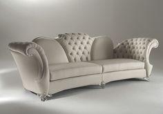 classic style leather sofa FLORINDO Mantellassi 1926