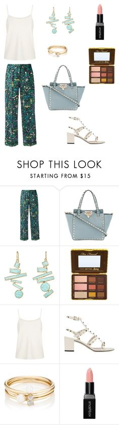 """Başlıksız #102"" by srny98 ❤ liked on Polyvore featuring Valentino, Judy Geib, The Row, Loren Stewart and Smashbox"