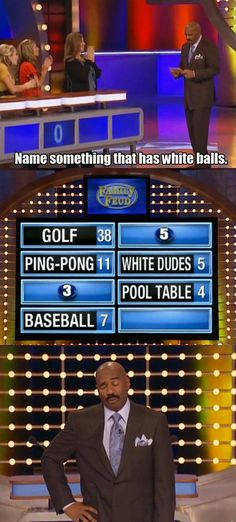 """When the world became a little more PG-13.   21 Hilarious Times Steve Harvey Lost Faith In Humanity On """"Family Feud"""""""