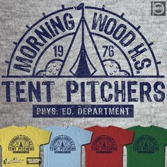 TENT PITCHERS 1976 on Threadless