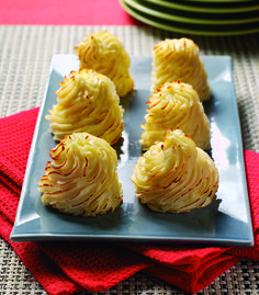 Crispy on the outside and fantastically fluffy on the inside, these puffs show just how versatile the humble potato can be. #sidedish #potatoes #recipe