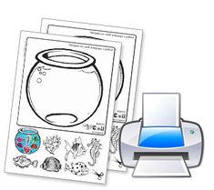 Empty Fish Bowl Coloring Page Daycare Pinterest Bowls Fish