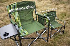Big man's chair. Little man's chair.