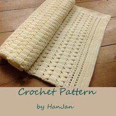 Instant Download PDF Crochet Pattern: Sanfte Creme Zick-Zack-Baby-Decke, leichte US-Anleitung mit HanJan Häkeln Anleitung auf Etsy, 3,45€