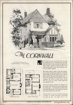 Sims House Plans, Small House Plans, House Floor Plans, Sims Building, Building A House, Storybook Homes, Vintage House Plans, Vintage Homes, Cottages And Bungalows
