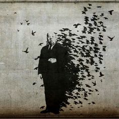 Alfred Hitchcock by Banksy