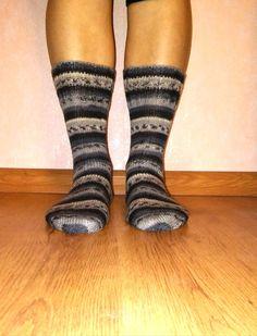 Unisex socks from sepial socks wool.Dark greybalck by Ramzijashop