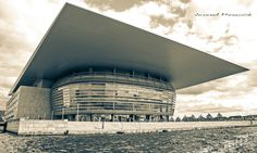 New modern building of opera in Copenhagen, Denmark Copenhagen Denmark, Urban Photography, Modern Buildings, Opera, Louvre, Travel, City Photography, Viajes, Opera House