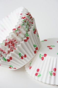 Cherry Cupcake Liners / Wrappers from Holland - set of 100. $15.00, via Etsy.