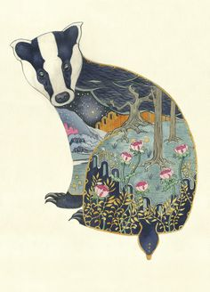 Badger - Card | Animal Cards and Prints & Screen prints | The DM Collection | Daniel Mackie