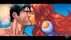 Nightwing And Starfire, Teen Titans, Comics, Anime, Fictional Characters, Art, Art Background, Kunst, Cartoon Movies