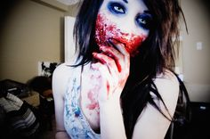 alternative, blood, halloween, make up, makeup, zombie - inspiring picture on Favim.com | We Heart It