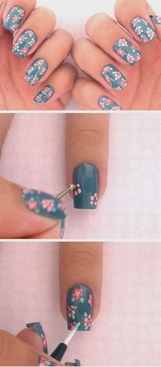 A dotting tool is a lot more versatile than just polka dots. Try creating Spring flowers, perfect for short nails. #simplynails #SpringNails