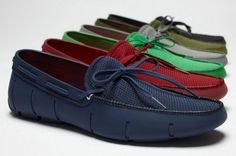 """Made of rubber with an anti-bacterial mesh lining, these Swims Loafers are a """"water-proof spin on the classic loafer … just as perfect for wading in the water as for watering plants in the garden."""" Some of the colorways are just as intense as the ever popular..."""