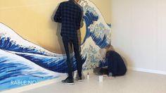A street art project at Utsira, Norway. A Hokusai tribute with Montana Cans. Client: Utsirabåten AS (tusen takk!) more @ www.rable.no