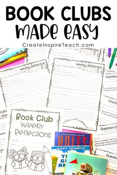 Book Clubs are a fun and engaging way to get your students reading and enjoying a book together! Visit this 3 part blog post miniseries to learn all about implementing Book Clubs with ease. Grades 2-6 #bookclubs #elementarybookclubs #classroomideas #ela