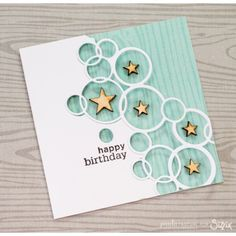 Sizzix Chaper 1 Thinlits Die - Bright Bubbles by Emily Atherton 661166