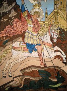 San Jorge Saint George And The Dragon, Patron Saints, Enamels, Astronomy, Macrame, Spirituality, Carving, Angel, Illustration
