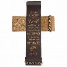 Cross-Legacy Of Love-John 3:16-Standing (8.25 x 5.