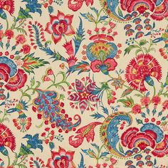 Red Linen Upholstery Weight Fabric by the Yard  by PopDecorFabrics