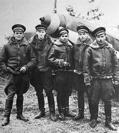 Pilots of the French Normandie-Niemen fighter Rgt in Russia. They flew Yaks and shot down 273 German planes.  http://en.wikipedia.org/wiki/Normandie-Niemen