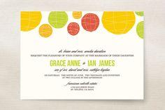 Summer Lanterns Wedding Invitations by Design Lotus at minted.com