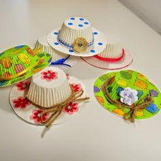 selber, machen, basteln, diy, ideen, anleitung, Hüte aus Muffinförmchen