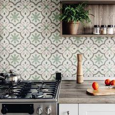 Bathroom Flooring, Kitchen Flooring, Kitchen Backsplash, Wall Tiles For Kitchen, Farmhouse Flooring, Backsplash Ideas, Kitchen Cabinets, Shower Floor, Tile Floor