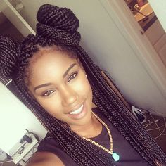 """dollsofbeauty: """"ofcourseblackisbeautiful: """"iamnaturallycandace: """"Don't forget I have a video on this cute box braid style. Link is in my bio! side note… I can't wait for you guys to see my next set..."""