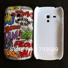 WHOLESALE COOL HAHA BOOM BAM DOODLE COMIC HARD CASE COVER FOR Samsung Galaxy S3 Mini i8190,Free shipping 10pcs/lot.