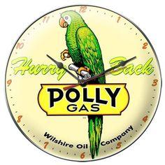 Vintage Polly Gas Wall Clock