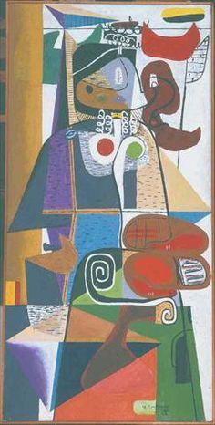 Taureau IX by @artistcorbusier #arthistory #frenchart
