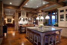 Kitchen, Huge Island Bar!