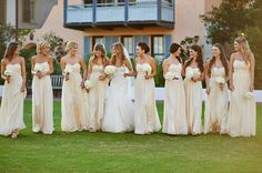 pale yellow bridesmaid dresses | Paul Johnson #wedding
