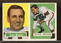 1957 Topps #28 LOU GROZA Cleveland Browns EX (FB12)