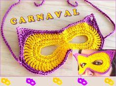 Como Fazer Máscara de Carnaval em Crochê https://amabijouxmega.blogspot.com.br/2018/01/como-fazer-mascara-de-carnaval-em-croche.html Se você quer inovar e possui alguma habilidade com crochê, saiba como fazer uma máscara em crochê para o Carnaval, com um passo a passo bem explicadinho em vídeo! #MáscaradeCarnaval #Crochê #PassoaPasso #Tutorial #vídeo