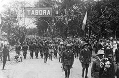 19 Sept 1916, WW1, Africa: Arrival of Belgian Colonial Troops in Tabora.