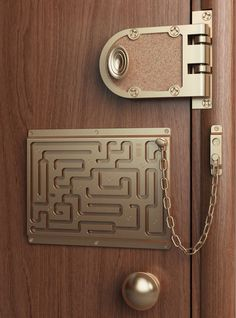 Image shared by Casa Linda Brasil. Find images and videos about funny, humor and decoration on We Heart It - the app to get lost in what you love. Objet Wtf, Door Chains, 3d Prints, Door Locks, Just In Case, Door Handles, Door Knobs, Haha, Funny Pictures