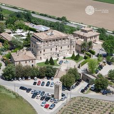Aerial shot of the castle Love Promise, Beautiful Castles, Italy Wedding, Wedding Ceremony, Mansions, House Styles, Mansion Houses, Villas, Wedding Ceremonies