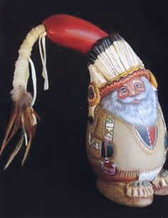 gourd - Native/Tan/Southwest Santa;  artist's favorite (Lola Stude)