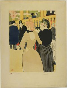 Henri de Toulouse-Lautrec. At the Moulin-Rouge, La Goulue and Her Sister (Au Moulin Rouge, La Goulue et sa soeur). 1892