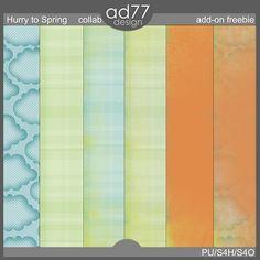 Hurry to Spring paper pack freebie from ad77 Design #scrapbook #digiscrap #scrapbooking #digifree #scrap