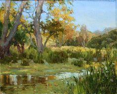 """Creek in the Santa Monica Mountains"" by Jose De Juan Oil ~ 9"" x 12"""