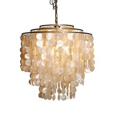 Tiered Shell Chandelier