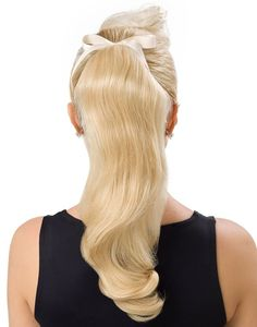 IrresistibleMe Hair Extensions - White Blonde Ponytail, %100 remi human hair clip in hair extensions available in 13 colors. You can choose the weight and length you need as well; free return/exchanges