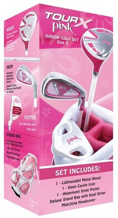 Tour X Pink 3 Club Toddler Golf Set for ages 2-4