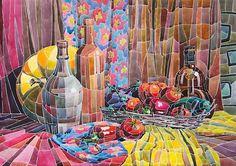 """Маслова Юлия  http://illustrators.ru/users/Julea-Mas  Акварель из """"осколков"""" цвета"""