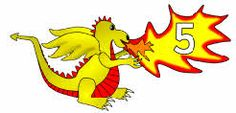 Free for kids: Numbers 0-50 on dragons
